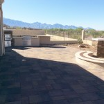 Paver Patio (Belgard) with Pizza Oven & Fire Pit