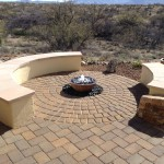 Paver Pad with Seatwalls